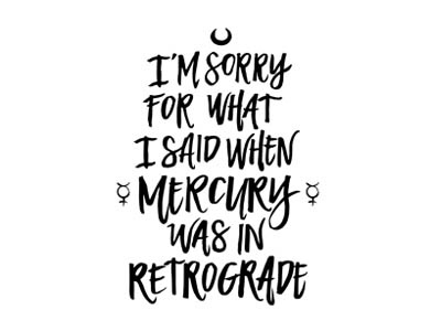 Mercury in Retrograde mercury in retrograde mercury vector art lettering type calligraphy typography hand lettering astrology