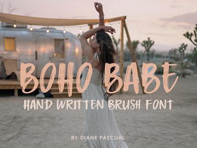 Boho Babe Font handwriting graphicdesign boho babe boho babe font lettering handwritten font typography font making font design