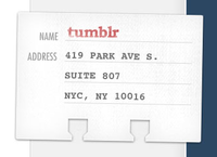 Tumblr card