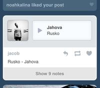 Tumblr's mobile dashboard