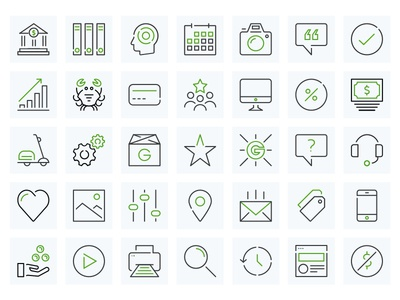 Groupon Merchant Icons outlines stroke simple groupon merchant groupon raza durrani iconography icons