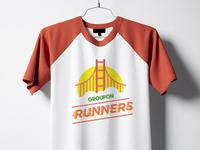Groupon Runners T-shirt jpmcc fast flat logo apparel tshirt shirt sf 5k run running groupon