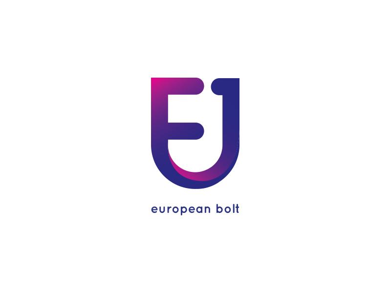 European logo u and e design european logo fashion