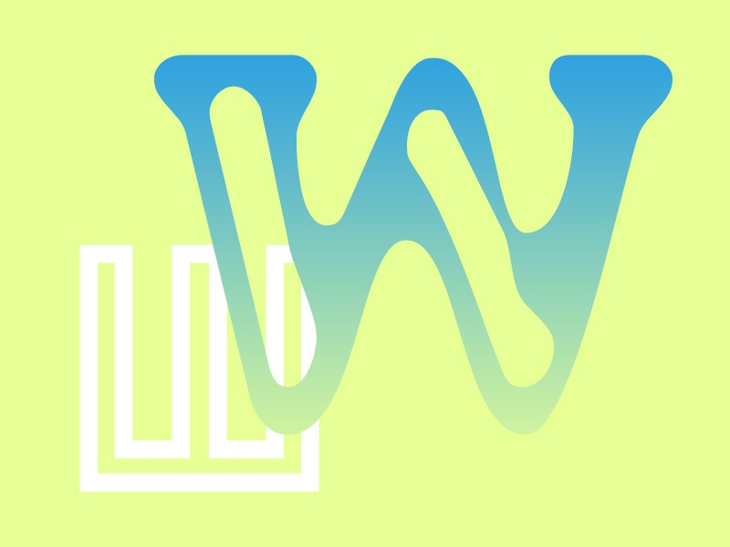 W w typography design weekly typehue type colour challenge