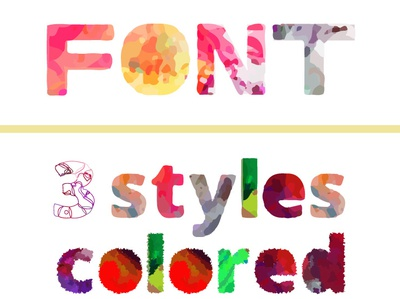 8 Color fonts [Latin + Arabic / Persian] colorful colored multicolored chromatic type fonts color font arabic type design type design persian type font typeface typography