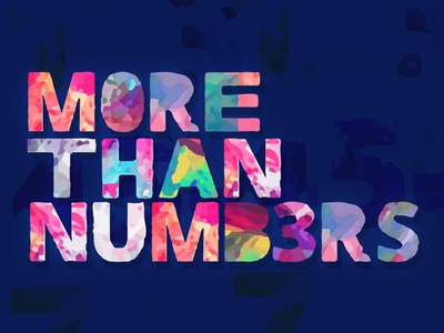 More Than Numbers type challenge type daily type art letters fonts color multicolor font chromatic type design color font type design typeface font type typography