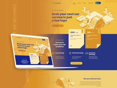 Mechance Template - Car Service - Mockup