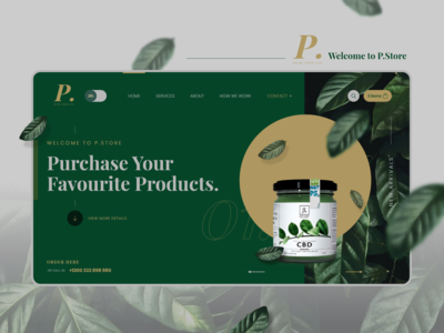 FullScreen Website Template - P.Store