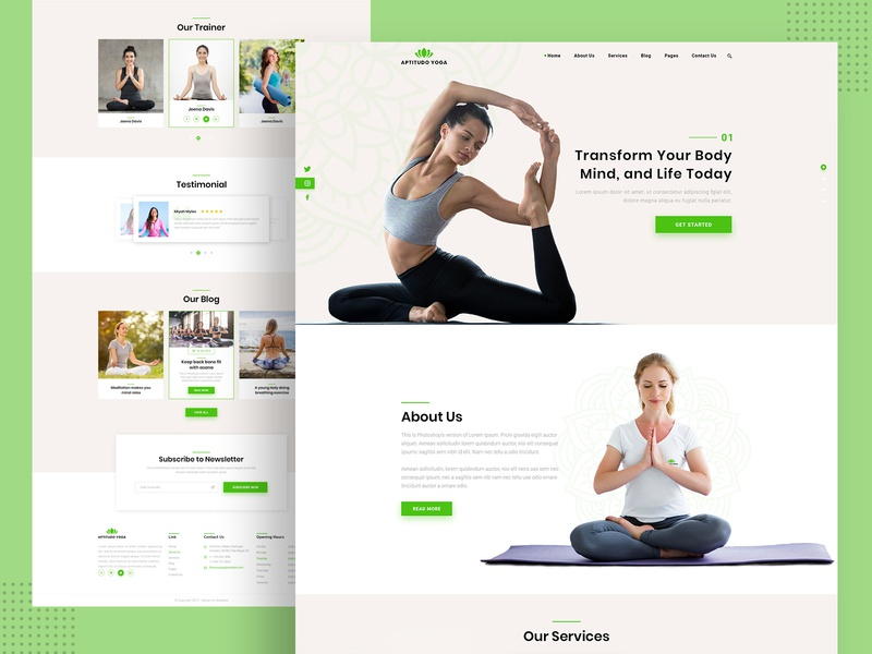 Aptitudo Fitness - Gym, Yoga & Fitness Template fitness website yoga website gym website yoga weight sport spa rewebsotech karate health gym fitness dance crossfit clean boxing belly dance beauty
