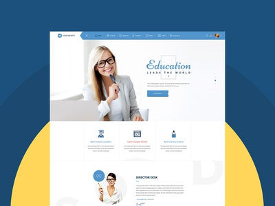 University - Education & Smart Learning Bootstrap PSD Template university training center training teaching school learning management system elearning education course books academy