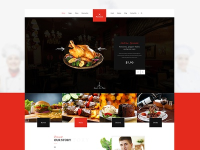 Nutriment - Restaurant / Cafe / Food Bootstrap PSD Template nutriment modern kitchen food desert delicious cooking cafe beverages bar