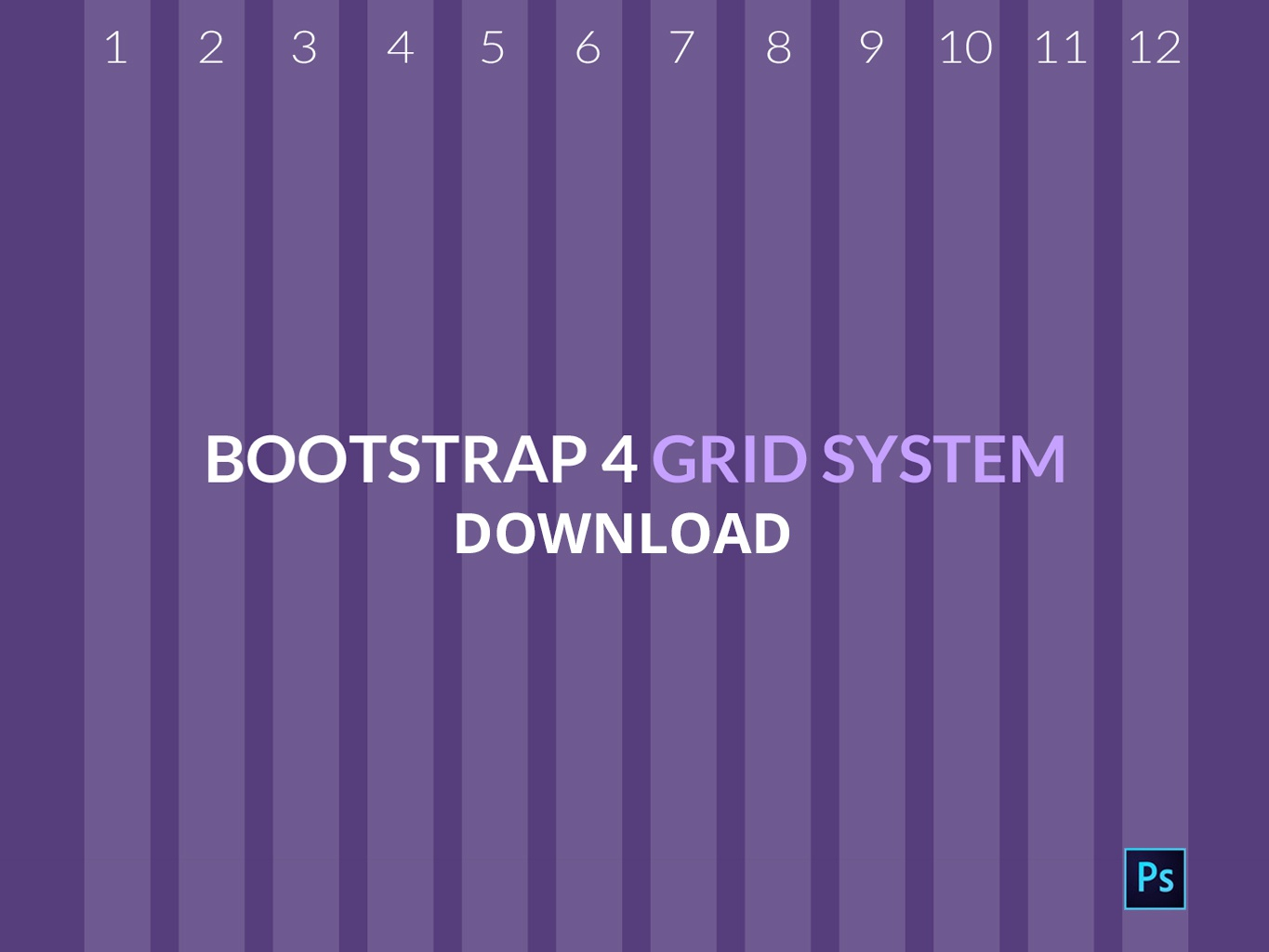 Bootstrap4 Grid PSD Download by Rewebso ✪ on Dribbble