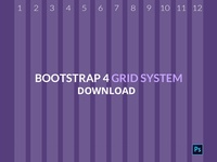 Bootstrap4 Grid PSD Download