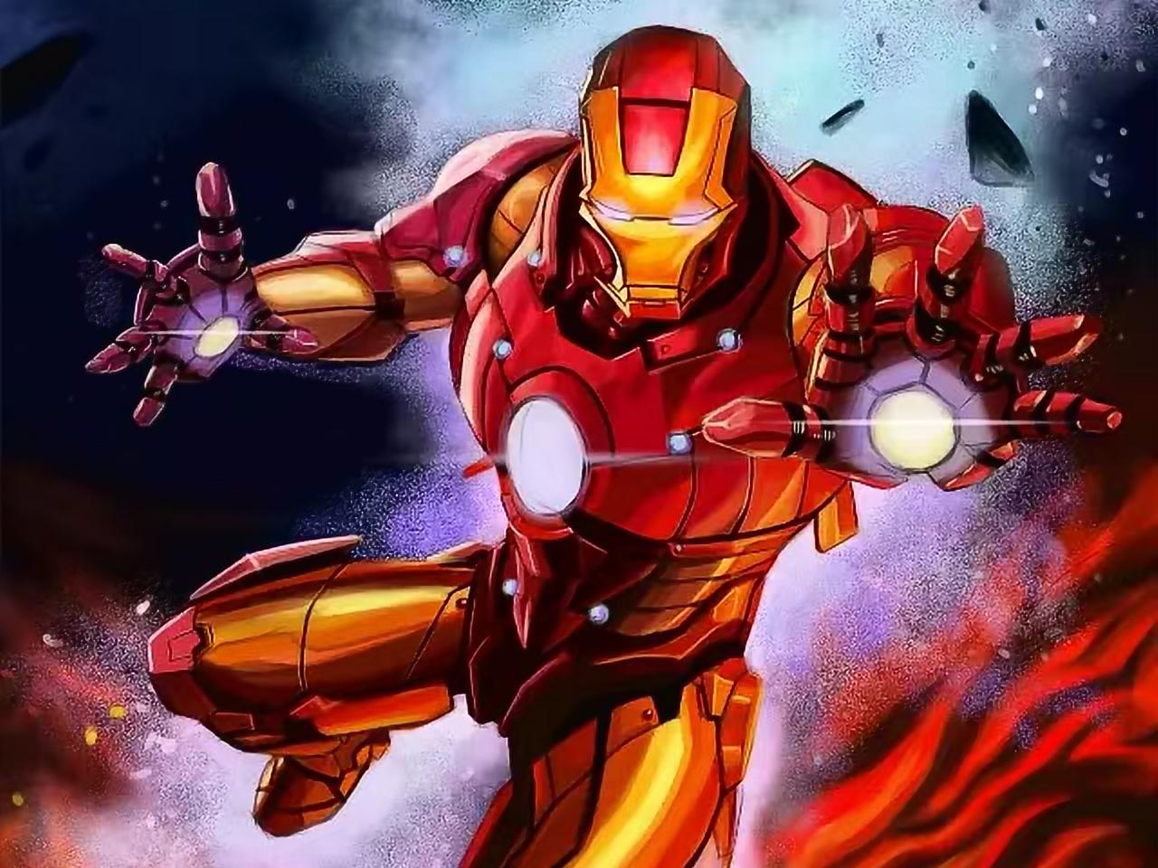 Iron Man digital painting iron man