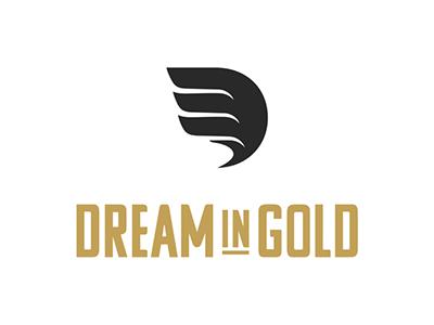 Misty May Dream in Gold Branding Identity logo