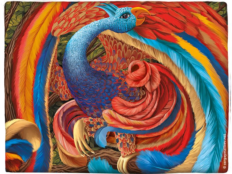 Bird Samruk (Kazakh folk legend) brightness movement color central asia legend abird