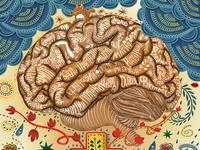 An illustration piece - the brain