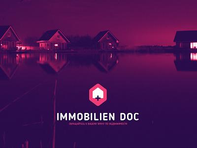 Immobilien Doc logo cross sales house real estate logo