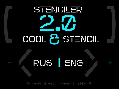 Stenciler Font | Latin | Cyrillic logotype poster allcaps cyrillic latin serif sans futuristic stencil font