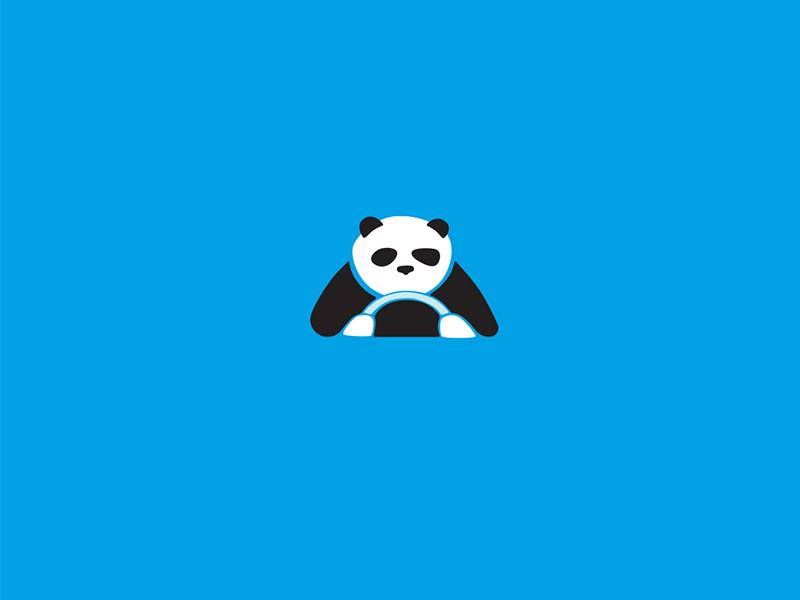 Panda logo forsale sale ready online buy design unique logotype logo animal cute bear driver black and white panda
