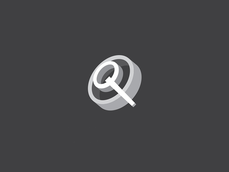Letter Q logo forsale sale ready online buy design unique logotype logo magnifier compas 3d circle q letter