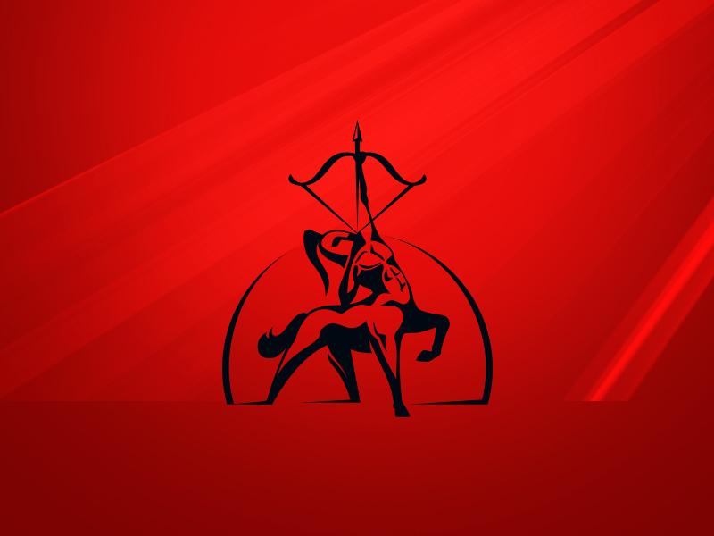 Centaur archer logo forsale sale ready online buy design unique logotype logo arrow bow helmet archer centaur
