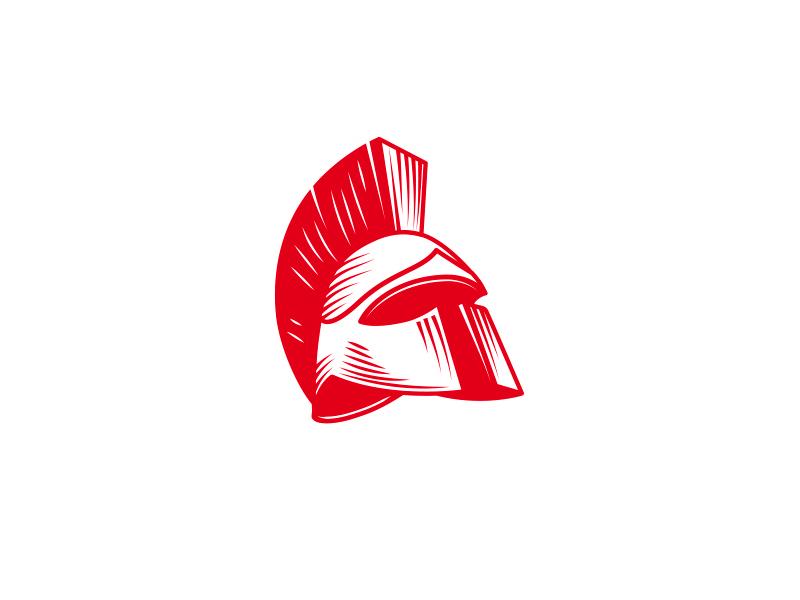 Helmet logo forsale sale ready online buy design unique logotype logo masculine warrior history greece spartan helmet