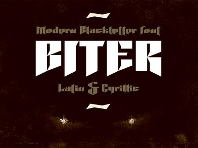 Biter font | Latin | Cyrillic