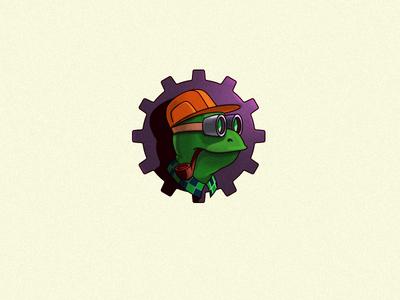 Mascot. Turtle engineer.