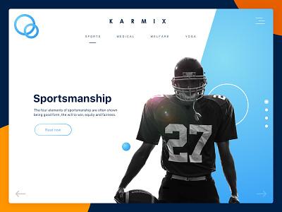 Sports & wellness app - Freebie website web ux ui sports landing page design clean app freebie