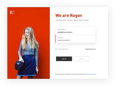Log In for web pop-up clean ux web fashion log in sign up design ui