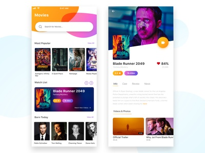 Movie Synopsis & Landing Page cinema bookmyshow landing page ux ui movies daily ui