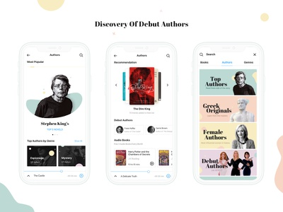 Discovery of Debut Authors - Reader App discovery clean mobile app ios minimal book ux ui app design