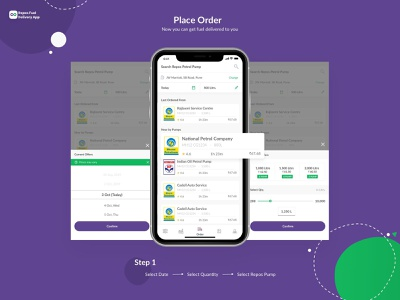 Fuel Ordering - Mobile App branding repos mobile app ios minimal clean ux design app ui