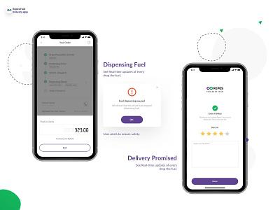 Real-time Fuel Dispensing and Feedback feedback fuel repos branding ios minimal clean ux design app ui