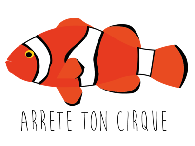 Poisson Clown cirque fishing nemo fish clown