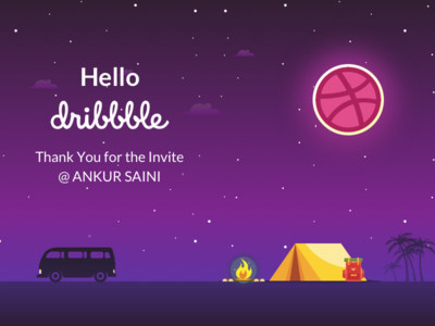 Hello, Dribbblers! Big thanks to @Ankur Saini for the invite!