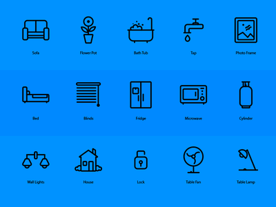 Icons graphic design web application line icons
