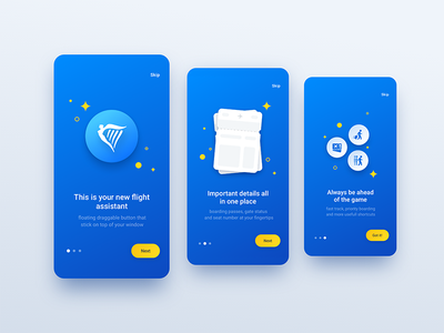 Ryanair Bubble Onboarding ux illustration how it works animation ui ryanair mobile interaction bubble blue app