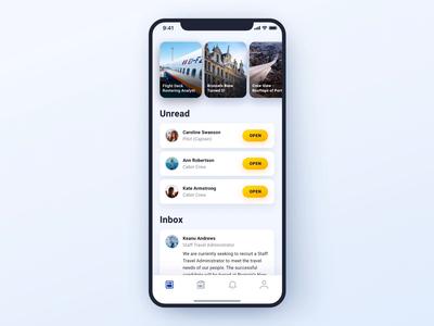Fleet Tweet - Log in Animation loader stories mail message unread inbox social media mobile animation ui ryanair interaction blue app