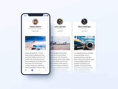 Fleet Tweet - Unread Messages unread inbox social media ux mobile ui ryanair interaction blue app