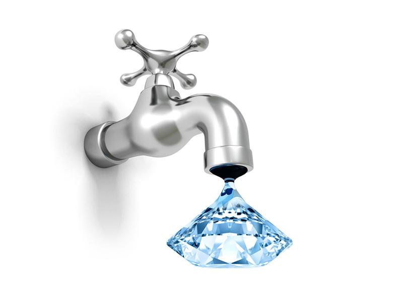 Water Day ! diamond water graphic  design art advertising design creative concept branding advertisement ad