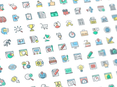 Icon Pack seo search science pack optimization network media marketing internet icons icon set icon package icon pack icon education ecommerce development business icons business analysis