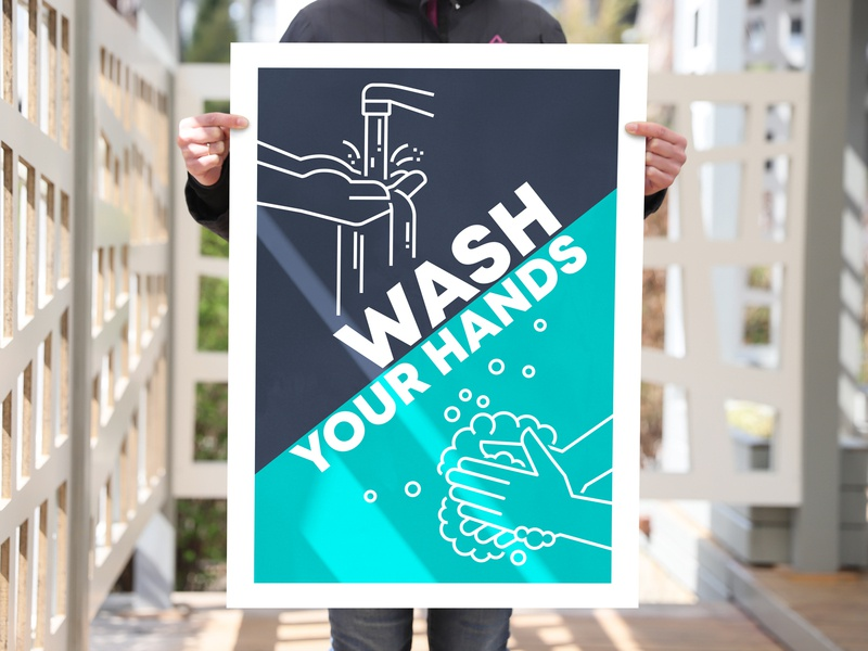 Wash your hands illustration wash your hands vertical signboard advertisement announcement notice placard poster soap sud vector washing hands cleaning washing icon health hand