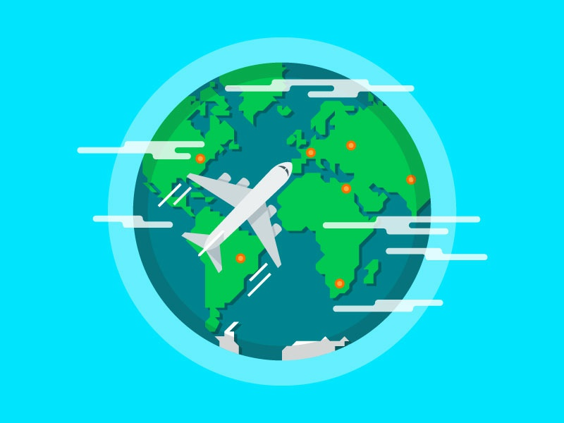 Plane flying around the world plane fly flying vector earth aircraft vector illustration illustration