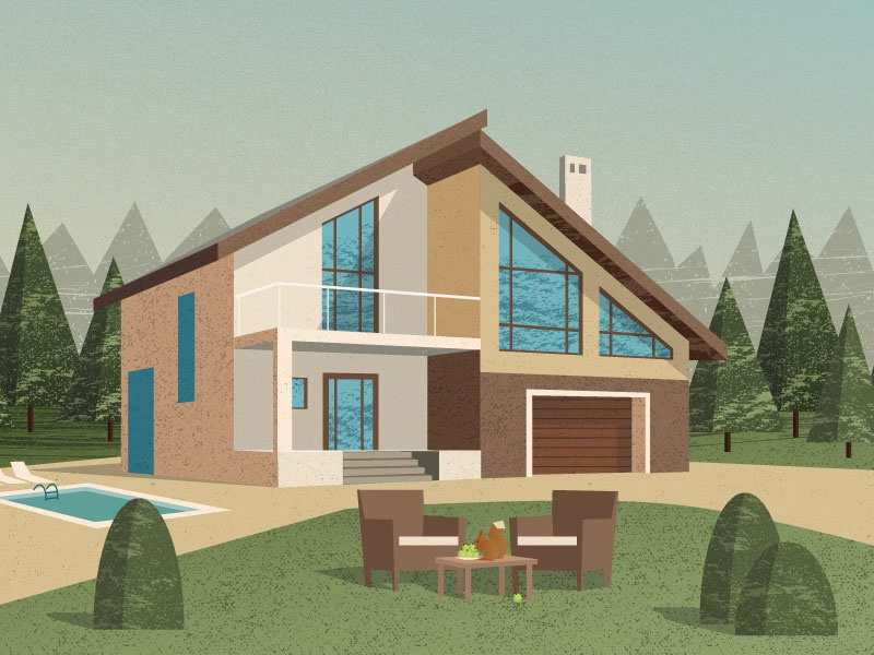 Comfortable house texture forest nature house comfortable house vector illustration