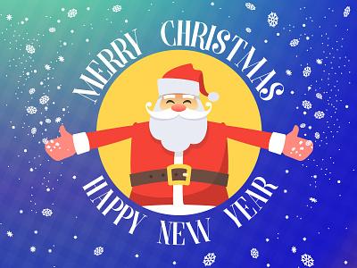 Santa Claus merry christmas christmas character vector illustration christmas card greeting card santa claus new year