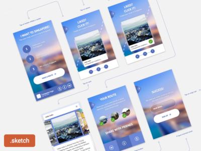 I want to singapore. Freebie india little purple task test route app mobile layout singapore sketch freebie