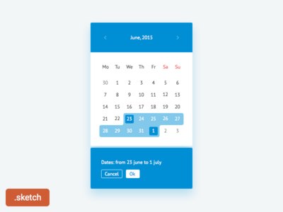 Date Picker. Freebie. sketch freebie picker date select diapason calendar