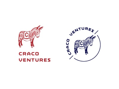VC firm logo illustration logo brand identity badge mascot donkey